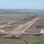 Construction of runway earthworks